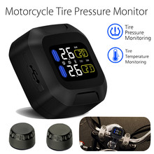 1 Pcs Waterproof Motorcycle Real Time Tire Pressure Monitoring System  Wireless LCD Moto TPMS PSI BAR With USB External Sensors waterproof motorcycle tire pressure monitoring system tpms wireless lcd display internal or external th wi sensors