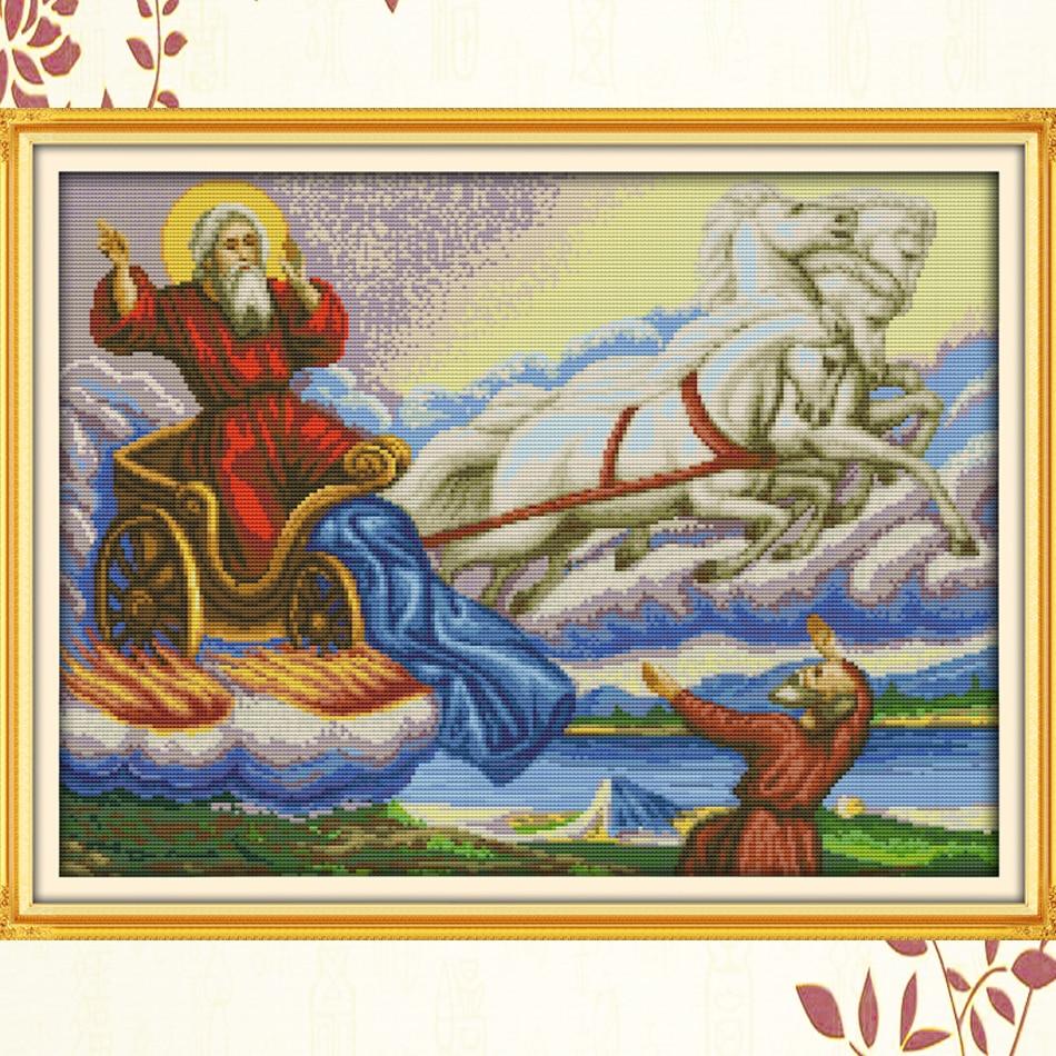 Купить набор для вышивки с санта клаусом joy sunday крестиком в рождественском