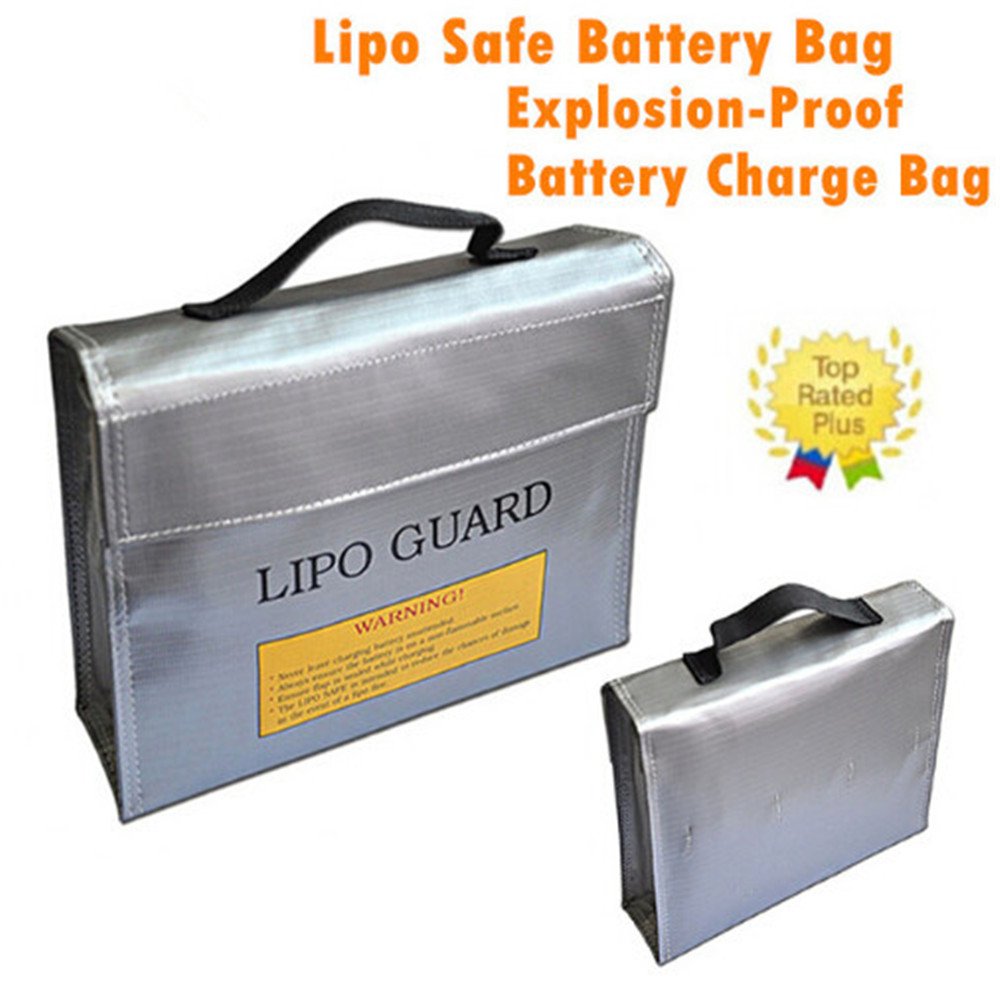 240x65x180mm Portable Explosion-Proof Safety Storage Bag Fireproof Safe Guard Charge Storage Bag for RC LiPo Battery