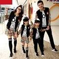 Ropa de la familia ropa activo establece ropa para la madre e hija padre e hijo ropa a juego de la familia fijó la ropa TL05