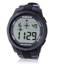 Montre bracelet de sport pour hommes, numérique, auto étalonnage, montre Led lumière, étanche, multifonctionnelle, 100m, heure, Radio, onde