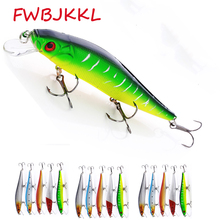 ФОТО 1pc 160mm/23g bionic minnow fishing bait 2pc hooks fishing lure reservoir  artificial bait 3d eyes outdoor tool