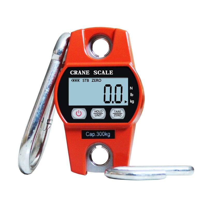 Haute qualité 300KG Mini Balance de grue numérique bagages Balance de pêche Balance de poids de poche crochet suspendu balances électroniques de grue - 4