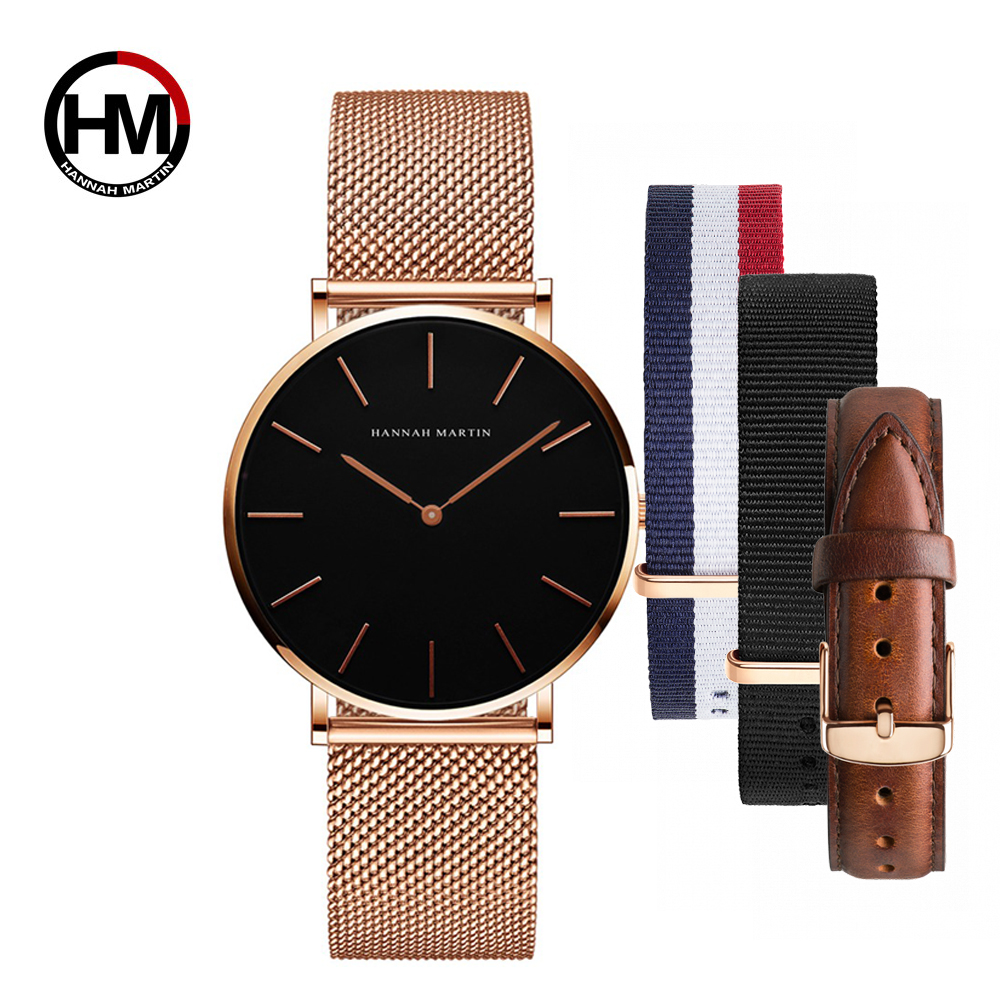 Image 3 - Dropship Women Watch Japan Quartz Design Waterproof Rose Gold Stainless Steel Mesh 1 set 3psc Band Lady watches relogio feminino-in Women's Watches from Watches