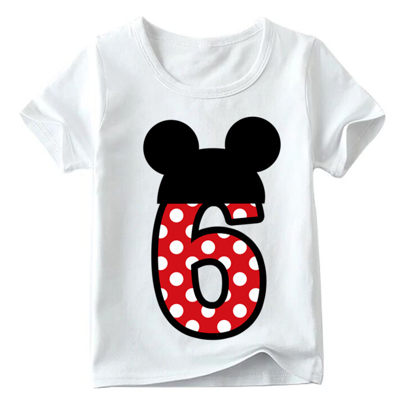 Baby Boys/Girls Happy Birthday Letter Bow Cute Print Clothes Children Funny T shirt,Kids Number 1-9 Birthday Present,HKP2416 21