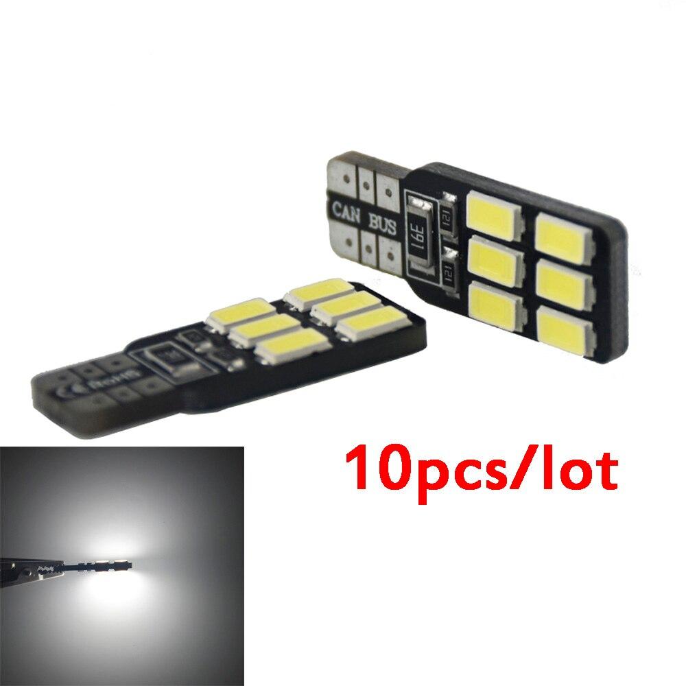 10шт T10 canbus светодиодные лампы 194 168 W5W и 5630 5730 12led фонарь СИД SMD T10 светодиодные автомобилей Клина стороны света Лампа авто свет