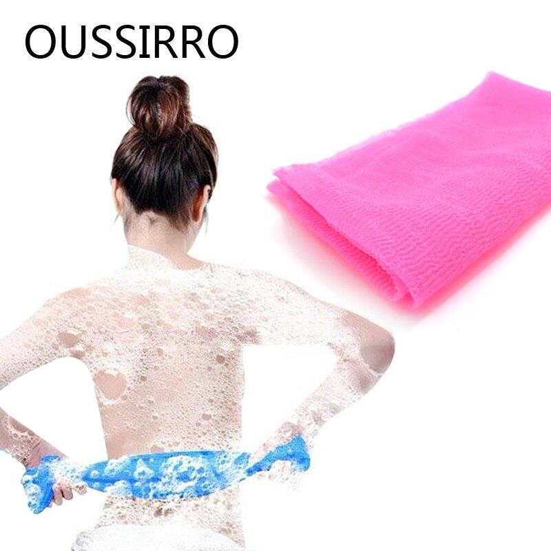 1Pc Friction Nylon Foam Towel Body Clean Long Bath Towel Rubbed Towel Soft Bath Towel Bathroom Accessories 29cm*90cm