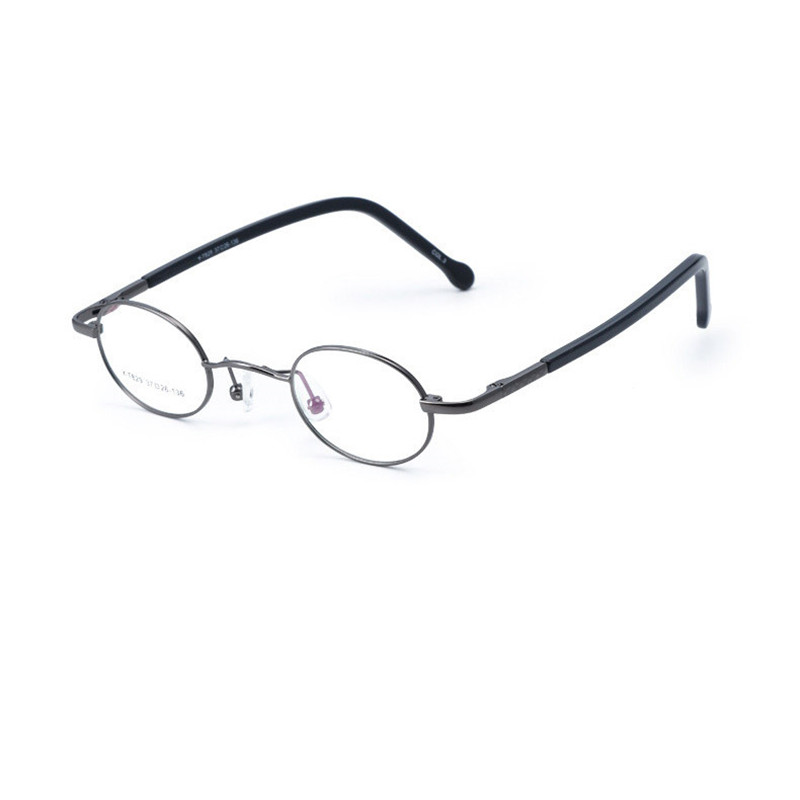 Cubojue 37mm Small Oval Glasses Frame Men Women Narrow Eyeglasses Frames for Man Spring Hinge Prescription Spectacles Vintage image