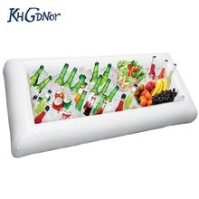 Khgdnor надувной, пивной стол для бильярда матрац ведро льда выступающей/салат-бар лоток для пляжа еда для вечеринки держатель для напитков
