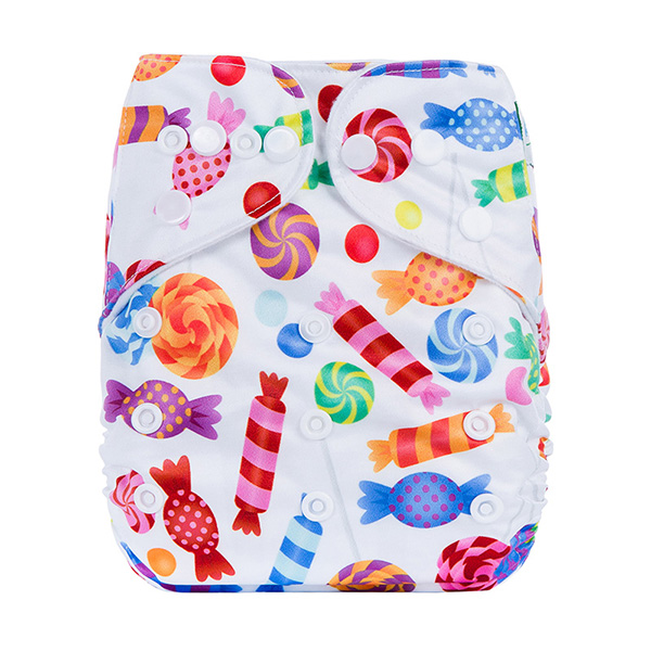 Digital Print Reusable Baby Nappies Washable Waterproof Baby Cloth Pocket Diapers for Newborns Ecological Cover P Series