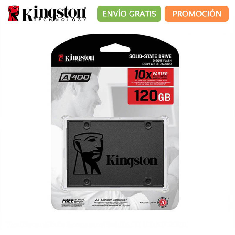 Original Kingston A400 <font><b>SSD</b></font> Hard Disk 120GB 240GB 480GB SATA <font><b>500</b></font> MB/s TLC <font><b>SSD</b></font> 120 240 480 <font><b>GB</b></font> Hard drives <font><b>SSD</b></font> 120GB Storage image