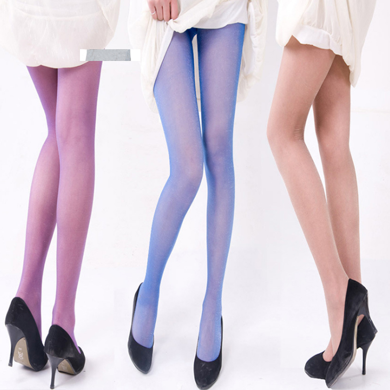 Summer Sexy Tight Pantyhose Women Fashion Solid Candy Color Pant Streetwear Comfortable Soft Elastic Thin Breathable Pantyhose(China)