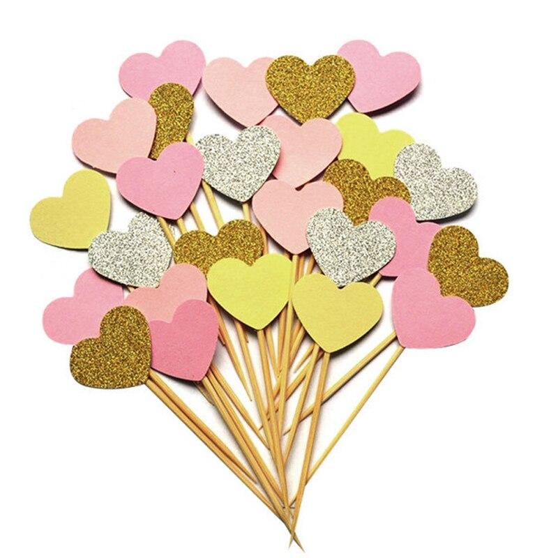 10 шт./лот, 1 день рождения, украшение, игрушки, шляпа, детская вечеринка, игрушка, много цветов, кекс, топперы, принцесса, корона, шляпа, игрушки для детей - Цвет: Розовый