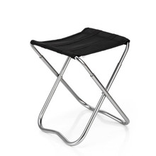 Small Portable Stainless Steel Fishing Seat Travel Barbecue Beach Backpacking Outdoor Beach Chairs cheap Famirosa Fishing Chair Fabric AS THE DISCRIPTHION Modern Outdoor Furniture
