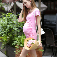 2016 New maternity casual dresses clothes for pregnant women plus size XL summer women dress pregnancy fashion clothing vestidos