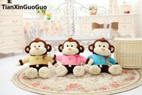 Large 65cm Cartoon Monkey Plush Toy Soft Throw Pillow Birthday Gift H2979