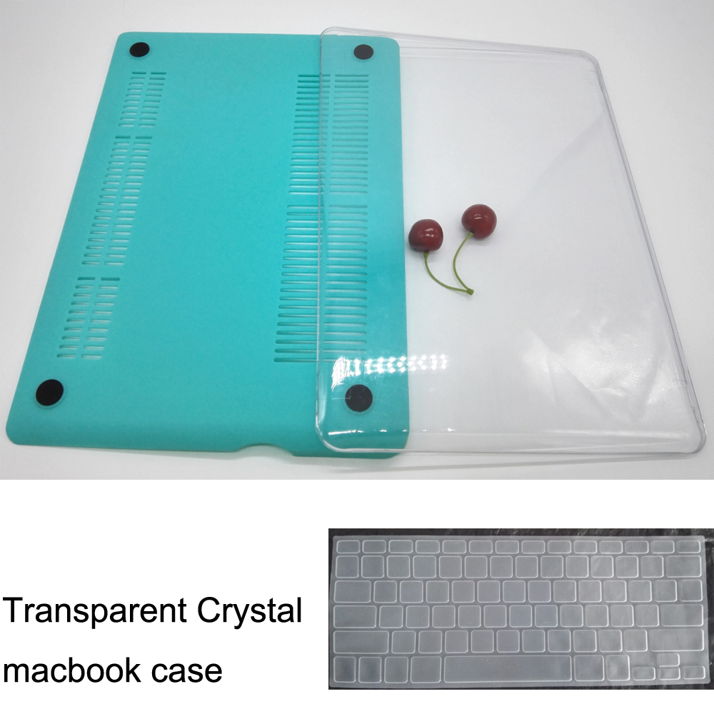 Transparent Crystal laptop Case 11colors protector case for Macbook pro retina air 11 13 15+keyboard skin/protector for mac book