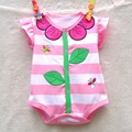 Cute Sunflower Summer 2016 Bebe Body Baby Romper Infants Overalls for Toddlers Jumpsuits Newborn Infant Clothing Children's Wear