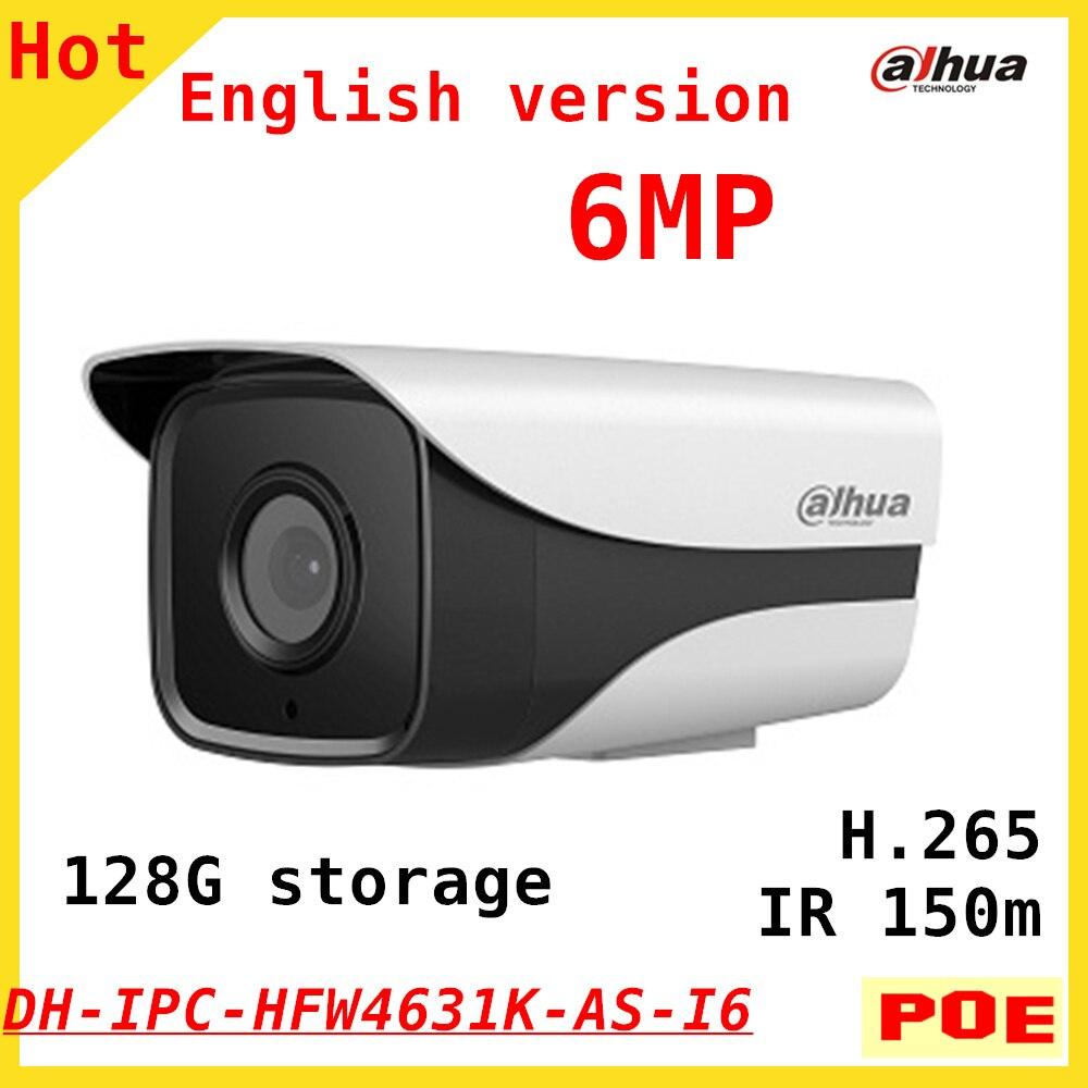 English Version Dahua New 6MP IP Camera IPC HFW4631K AS I6 H 265 IR Distance 150m