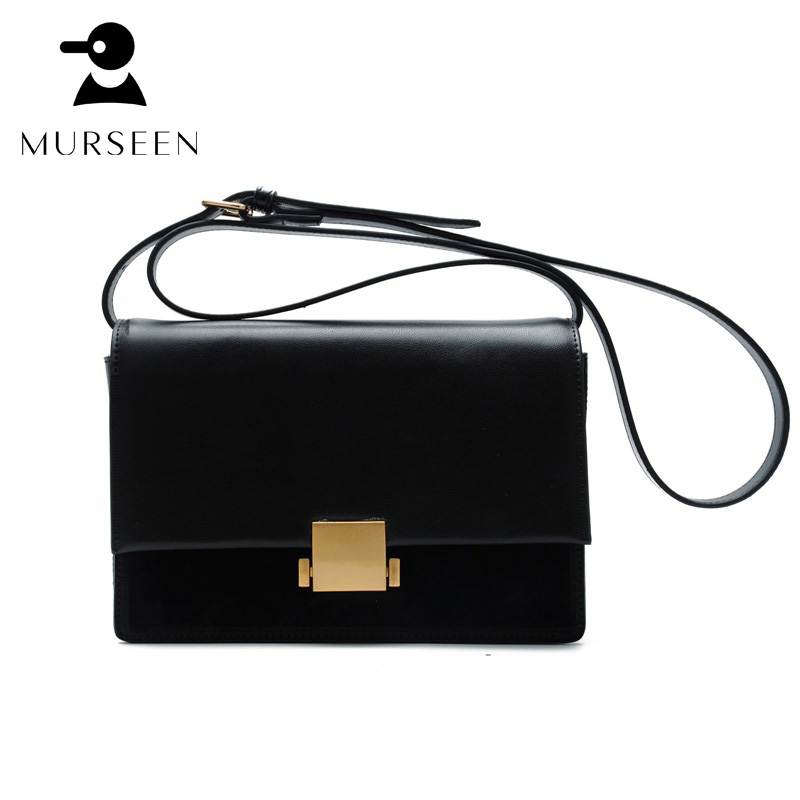 Winter Women Genuine Leather Handbags Luxury Brand Designer Messenger Bags Small Solid Cowhide Shoulder Cross Body Bag Black S-X 2017 women leather handbag of brands women messenger bags cross body ladies shoulder bag luxury handbags designer s 83