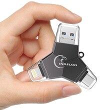 Ingelon диск на ключ 32 ГБ карту флэш-памяти с интерфейсом usb 64 ГБ 3,0 Флешка флешки personalizado Пользовательские diy DJ 128 ГБ для iphone Флеш накопитель