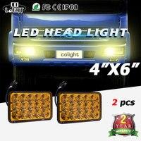 CO LIGHT 45W 4X6 Led Fog Lights 12V 24V High Low Beam Auto Fog Lamp For