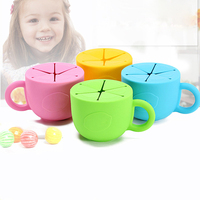 Baby Drink Cup Silicone Leakproof Cup Children Training Straw Cup Baby Silicone Tableware Snack Box Cup
