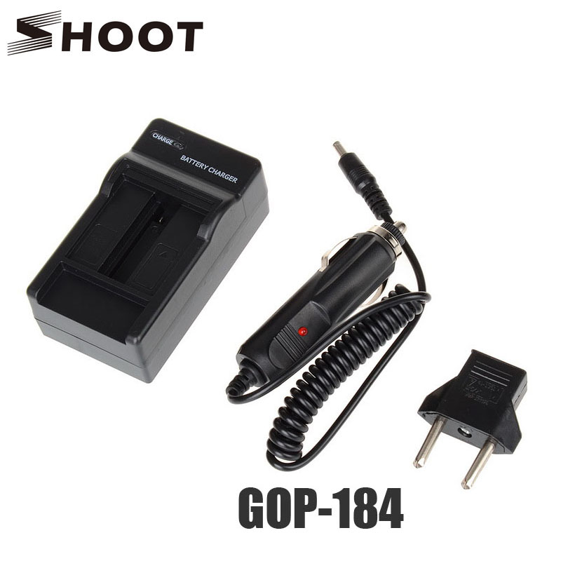 Shoot Car Battery Charger For Gopro Hero 4 Black Silver Sports Cam With U.s. Eu Adapter For Go Pro 4 Action Camera Accessories