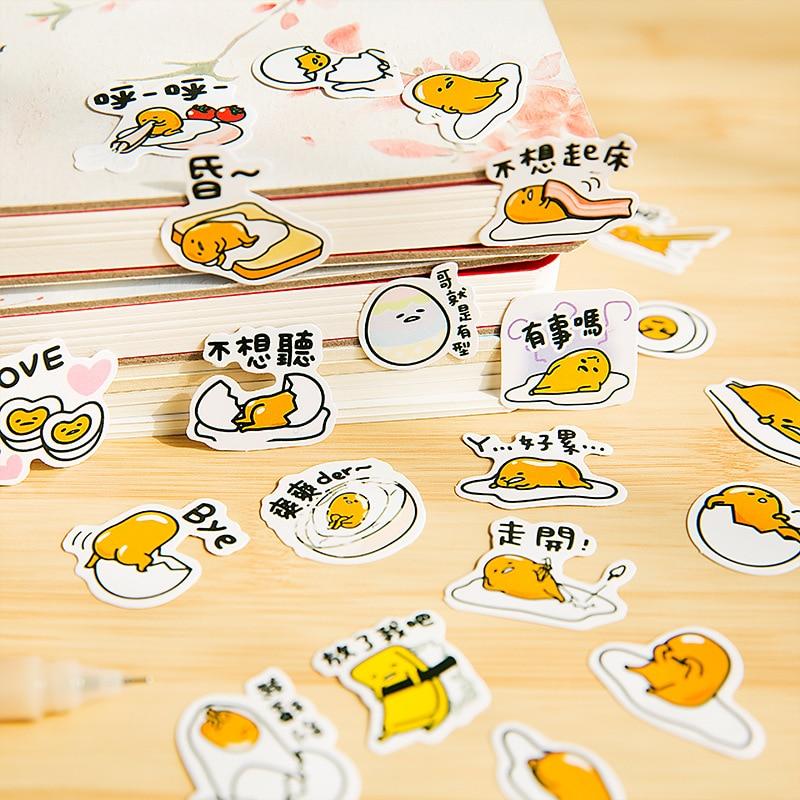 Cute Sanrio Gudetama Lazy Egg Stickers Diary Sticker Scrapbook Decoration PVC Stationery DIY Stickers School Office Supply TZ15