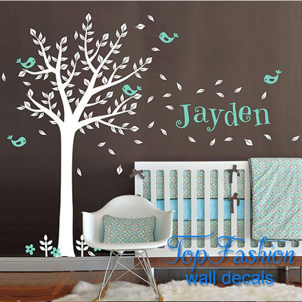 popular huge wall decalsbuy cheap huge wall decals lots from  - huge vinyl wall decals one color tree cute squirrels and birds with customname baby nursery