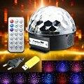 RGB 18W Voice Control Disco Bar Christmas Party Stage Lighting Effect Digital LED Crystal Magic Lamp AC110-240V EU Plug