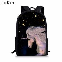 THIKIN Cute Unicorn School Bag for Girls Boys Fashion Large Schoolbag Portfolio Galaxy Backpack Satchel Book Racksack Dropping