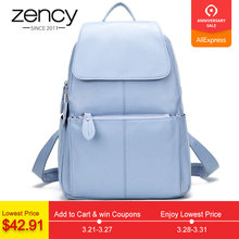 b22edcb020073 Zency 14 Farben 100% Echtem Leder Frauen Rucksack Mode Damen Reisetasche  Adrette Schulranzen Für Mädchen