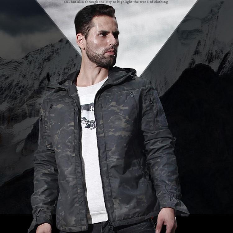 Nouvelle veste à capuche de chasse Multicam Camo CP Ripstop veste de chasse sur le terrain pour veste de chasse en plein air avec capuche
