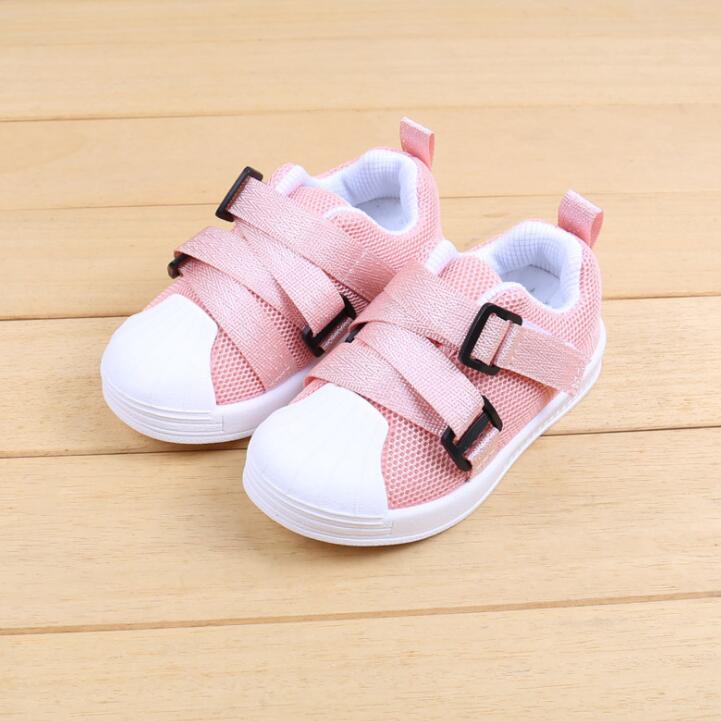 Baby Boys Girls Sport Shoes 2018 Autumn Soft Breathable Leisure Kids Running Sneaker Children Walking Tennis Shoes