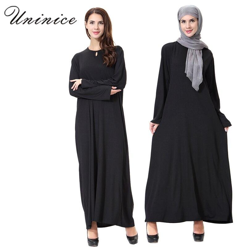 ea2c799e1b Muslim Dress Linen Islamic Abaya Kaftan Women s Maxi Dresses Long Sleeve  Islam Robe Musulmane Ramadan Turkey Dubai