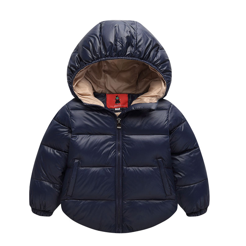 Fashion Boys Jacket Winter Short Down Coat Children's outerwear Cartoon Hooded Girls Warm Solid Cotton  Parkas For 2-8T Kids 2016 short paragraph winter down thick jacket fashion girls boys cotton hooded coat fashion hildren s jacket warm outwear 16a12