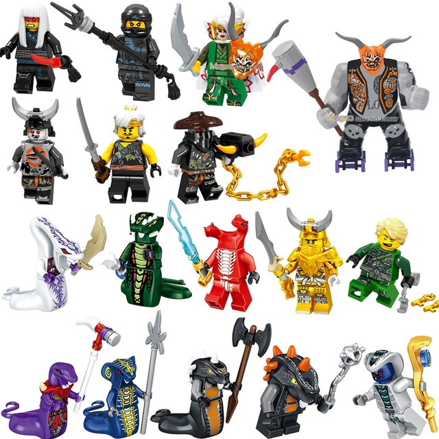 Ninja legoings Ninjagoes Muzzle Misako Garmadon Jay Kai Jack Jaguar Luke Killow Snakes figure Building Blocks Gift Toys Kids