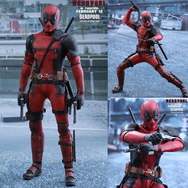 """12 """"Marvel Fibric Deadpool HT 1/6 Collection Figure 1.0 Toy Doll Brinquedos Figurals Model Gift"""