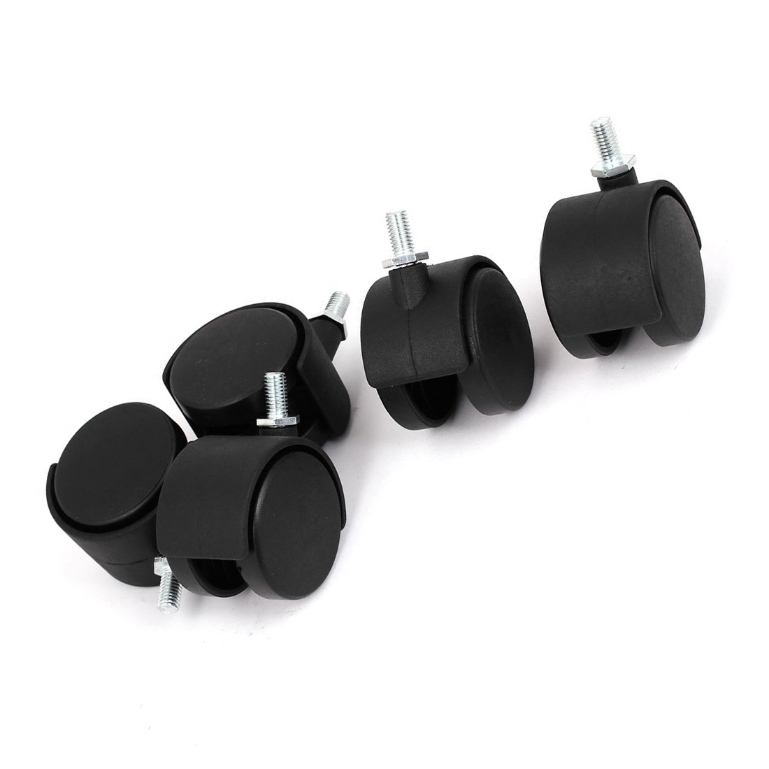 Promotion! 10mm Threaded Stem 2 Inch Dia Wheel Chair Swivel Caster 5 Pcs Black fslh 10mm threaded stem 2 inch dia wheel chair swivel caster 5 pcs black