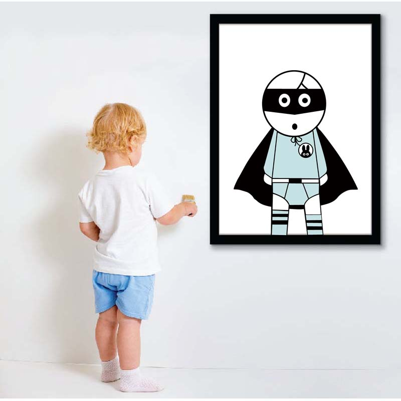 ᐃbatman canvas print artwork, Nursery Rabbit painting wall art,kids ...