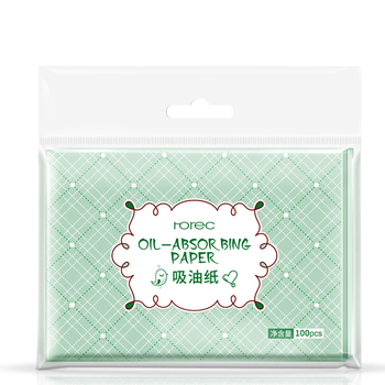 100 Sheets/pack Professional Face Make Up Oil Absorbing Blotting Facial Clean Paper Oil Control Film Tissue image