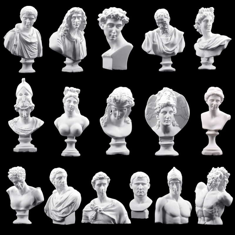 Ancient Greek Mythology David Plaster Sculpture Candle Silicone Mold Athena Cement Home Decoration Venus Goddess Clay Soap Mold