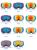 11 Colores Disponibles Unisex Profesional Esférica de Doble Lente de Espejo antivaho UV gafas de Esquí Gafas de Snowboard gafas de esquí