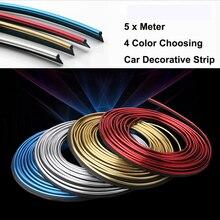 5 Meter decoration strip PVC decorative for auto accessories  tape dash panel trim strip automotive for 124 125 125 500 695