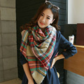 hot sell winter oversize plaid new designer blanket unisex acrylic wrap cashmere scarf shawl pashmina for spring fall 140x140CM