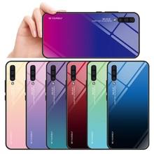 Case For Samsung Galaxy A50 A30 M20 M10 M30 A70 A60 Gradient Tempered Glass A6 A7 A750 A8 2018 Cover