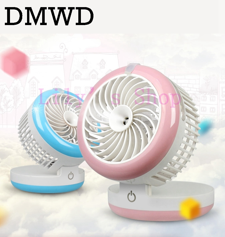 Mini Quiet air conditioner fan rechargeable desktop USB humidifier cooling fans portable conditioning cooler office student dorm handheld usb misting fan personal cooling humidifier portable mini desktop fans