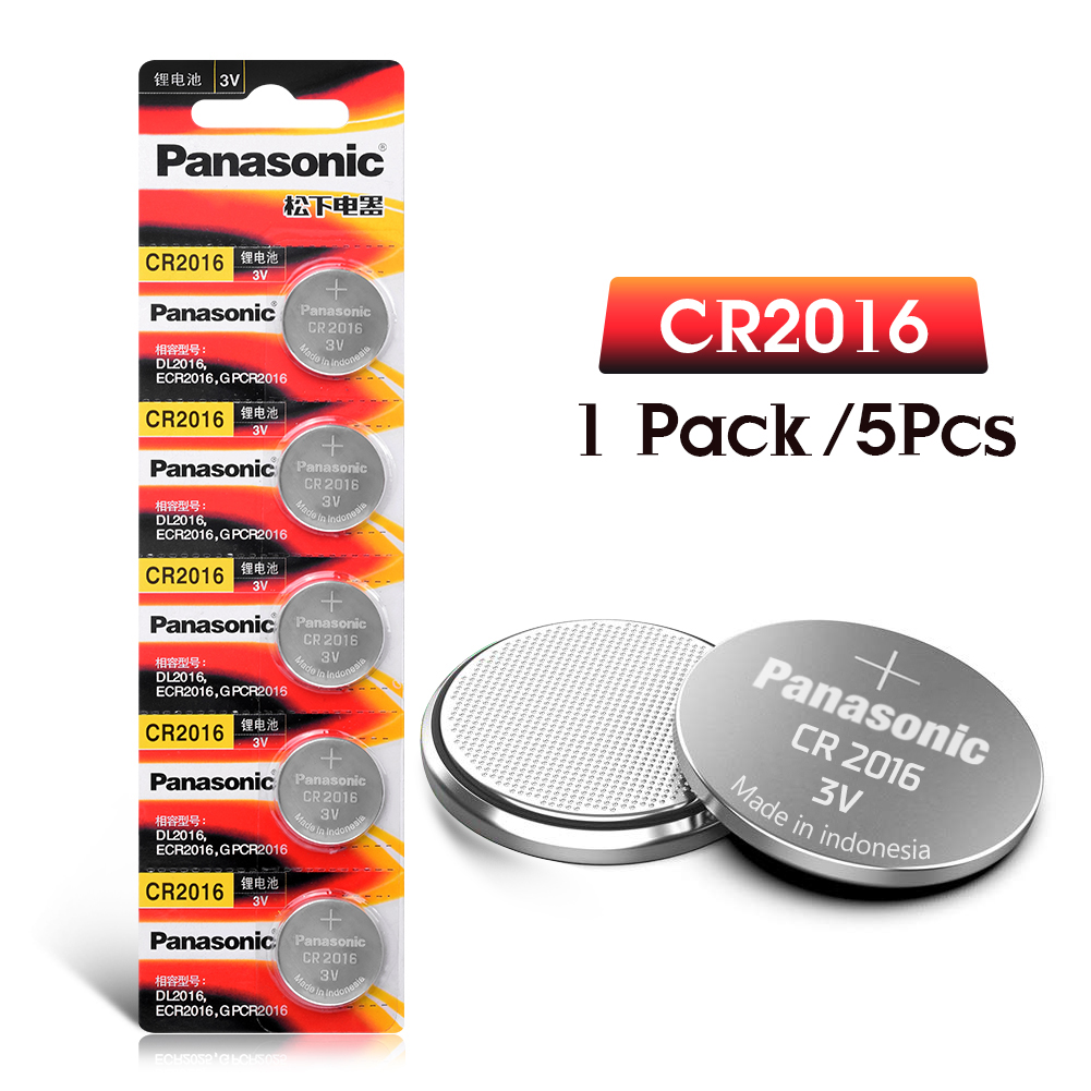 5pcs original brand new battery for PANASONIC cr2016 3v button cell coin batteries for watch computer cr 2016 For Control Toy image