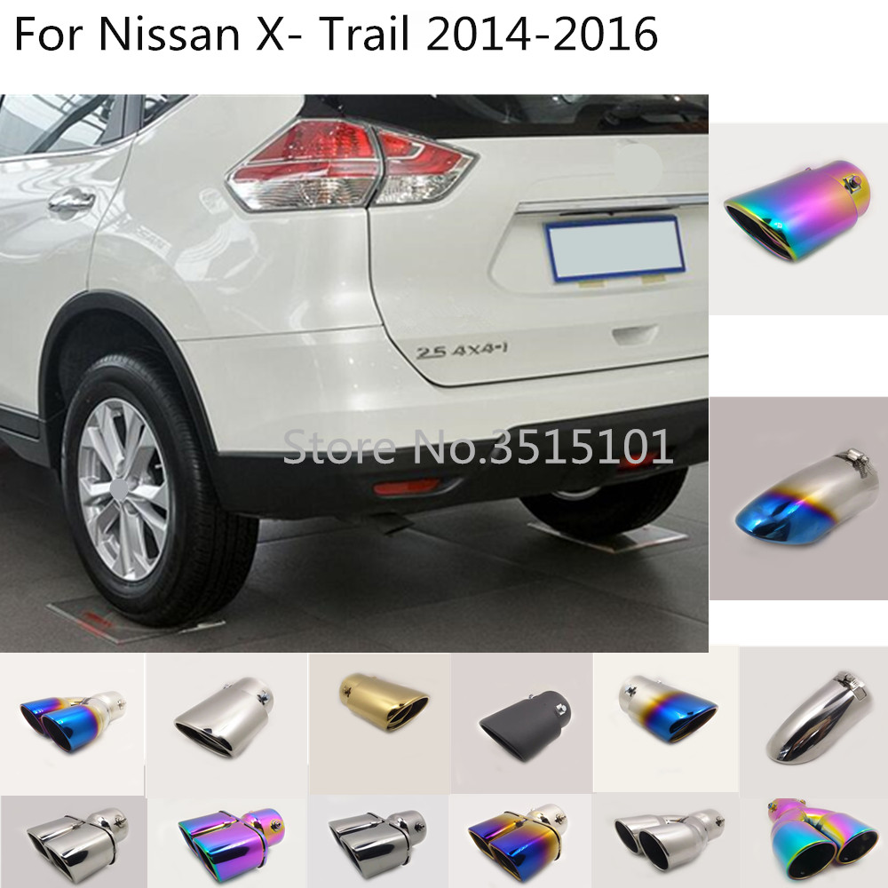 Car Rear Cover Stainless Steel Muffler Pipe Outlet Dedicate Exhaust Tip Tail For Nissan X-trail Xtrail T32/Rogue 2014 2015 2016